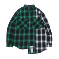 "【SABBAT13】シャツ ""SHABBY CHECK SHIRTS"" / GREEN-GRAY"
