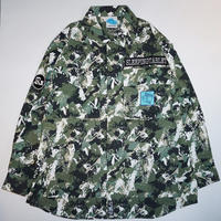 SLEEPING TABLET シャツ LURK [ COVERED ARMY SHIRTS ] / WOODS CAMO