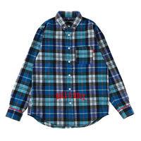 "【ROLLING CRADLE】チェックシャツ ""CHECK SHIRT"" / BLUE"