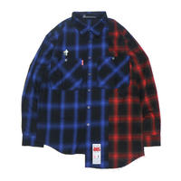 "【SABBAT13】シャツ ""SHABBY CHECK SHIRTS"" / BLUE-RED"