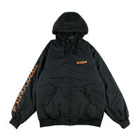 "【ROLLING CRADLE】フードジャケット ""SHOUT HOODED BOMBER JACKET"" / BLACK"