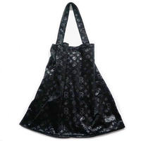 "【SLEEPING TABLET】""PATIENT [ VELOUR TOTE BAG ]"" / BLACK"