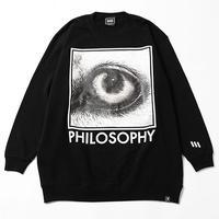 """【SILLENT】スウェット """"PHILOSOPHY -Crew Sweat-"""" / BLACK"""