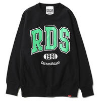 "【RUDIE'S】クルーネックスウェット ""RDS CREW SWEAT"" / BLACK"