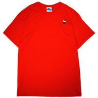 "【SLEEPING TABLET】Tシャツ ""SLEEPY [ POCKET TEE ]"" / RED"