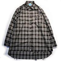 "【SLEEPING TABLET】ビックシャツ ""17 [ FRAYED HEM LOOSE SHIRTS ]"" / BLACK"