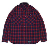 S-BONE BIG NEL SHIRTS / RED