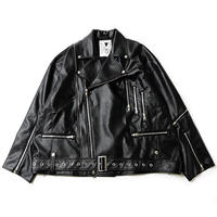 "【SILLENT】ライダース ""ECLIPSE -Oversized Riders Jacket-"