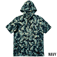 ALOHA HOOD SHIRT S/S -Resolve- / NAVY