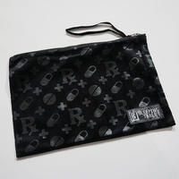 "【SLEEPING TABLET】""PATIENT [ VELOUR POUCH ]"" / BLACK"