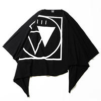 """【SILLENT】""""CRYPTIC -Extra Wide Poncho-"""" / BLACK-WHITE"""