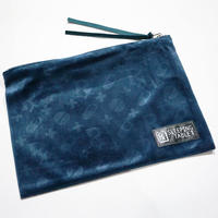 "【SLEEPING TABLET】""PATIENT [ VELOUR POUCH ]"" / NAVY"