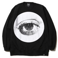 "SILLENT FROM ME クルースウェット ""HOLE -Crew Sweat-"" / BLACK"