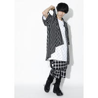 SILLENT シャツ LAX -Hemline Half Sleeve Shirts- / BLACK STRIPE