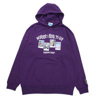 """つぶら × SLEEPING TABLET COLLABORATION HOODIE"" / PURPLE"