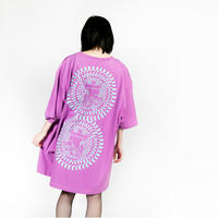 "【HEDWiNG】""Big Silhouette ""罠"" T-shirt"" / PURPLE"