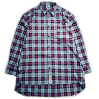 "【SLEEPING TABLET】ビックシャツ ""17 [ FRAYED HEM LOOSE SHIRTS ]"" / BLUE"
