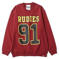 "【RUDIE'S】クルースウェット ""91 CREW SWEAT"" / BURGUNDY"