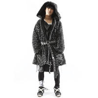 """【SILLENT FROM ME】リバーシブルガウン """"IMITATE -Reversible Fur Gown-"""" / LEOPARD"""