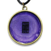 NATSUMECO LOGO NECKLACE / GLITTER-PURPLE