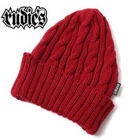 WASTE CABLE KNITCAP / RED