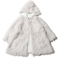 "【SILLENT FROM ME】リバーシブルガウン ""IMITATE -Reversible Fur Gown-""  / WHITE"