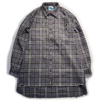 "【SLEEPING TABLET】ビックシャツ ""17 [ FRAYED HEM LOOSE SHIRTS ]"" / GRAY"