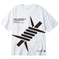 "LILWHITE(dot) Tシャツ ""BARBED"" EXTRA BIG TEE / WHITE"