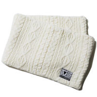 """【SILLENT】ニットスヌード """"VEIN -Cable Knit Snood-"""" / WHITE"""