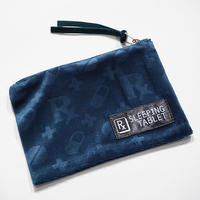 "【SLEEPING TABLET】""PATIENT[ VELOUR MINI POUCH ]"" / NAVY"
