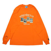 """つぶら × SLEEPING TABLET COLLABORATION L/S TEE"" / ORANGE"
