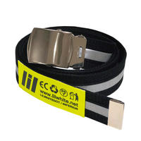 "【LILWHITEDOT】ベルト ""REFLECTOR LONG BELT"" / BLACK"