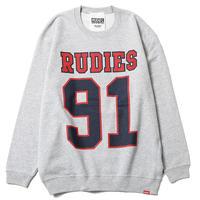 """【RUDIE'S】クルースウェット """"91 CREW SWEAT"""" / GRAY"""
