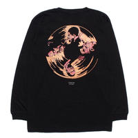 Dolphy L/S Tee (Art by Guru kato) Black