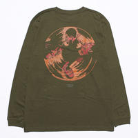 Dolphy L/S Tee (Art by Guru kato) Olive