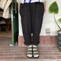 【chloro sister】 綿麻イージーコックパンツ