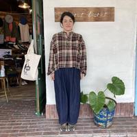 "【DMG】""ビッグチェックフランネルスタンドカラーシャツ"""
