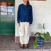 "【OMNIGOD】  ""抜染プリントストライプシャツ"""