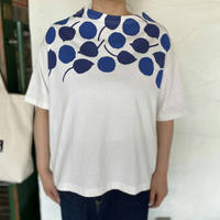 "【naturallaundry】 ""フローリーフプリントTシャツ"""