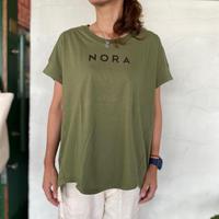 "【Blue Lake Market】 ""NORAプリント半袖Tシャツ"""
