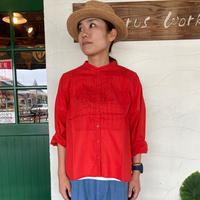 """【soil】 """"ドビーストライプピンタックシャツ"""""""