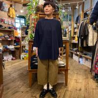 "【prit】 ""ハイゲージスムース7分ワイドチュニックTシャツ"""