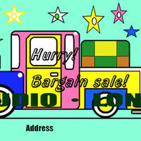 Post card for the bargain sale.集客アップポストカードJPEG011