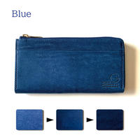 【...to®・Olga】カードが一目瞭然!徹底的に使いやすさにこだわった長財布・Blue(ブルー)