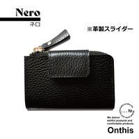 【...to®・Onthis】スマートキーも入るマルチウォレット・Nero(ネロ)<革製スライダー>