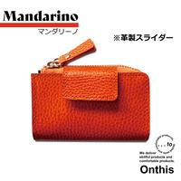 【...to®・Onthis】スマートキーも入るマルチウォレット・Mandarino(マンダリーノ)<革製スライダー>