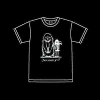 Yeti meets girl Tシャツ black