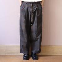 ChahChah チャーチャー CC AGING WORK PANTS BLACK CHECK【CC20SS-PT-02】(N)