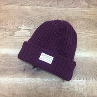 Seams Knit Beanies Burgaundy