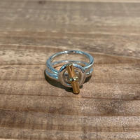Hermès Vintage(エルメス ヴィンテージ)Stering Silver & 18k Gold Ring【19SS_3VH11】(N)
